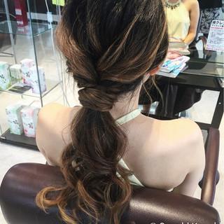 ポニーテール ヘアアレンジ ロング ローポニーテール ヘアスタイルや髪型の写真・画像 ヘアスタイルや髪型の写真・画像
