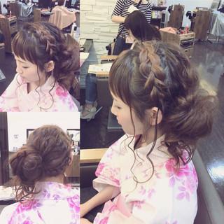 お祭り ワイドバング 夏 花火大会 ヘアスタイルや髪型の写真・画像