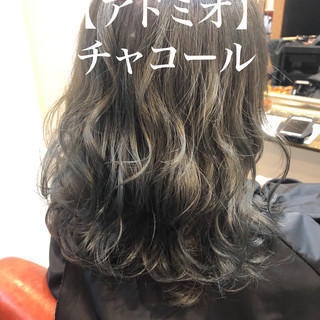 可愛い ストリート ロング シルバーアッシュ ヘアスタイルや髪型の写真・画像