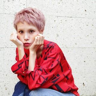 ブリーチ ショート ハイトーン ベリーショート ヘアスタイルや髪型の写真・画像