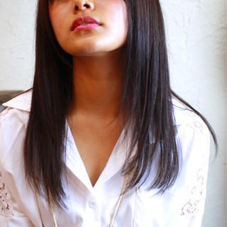 うざバング セクシー ナチュラル ワイドバング ヘアスタイルや髪型の写真・画像