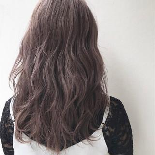 ハイライト ハイトーン セミロング 外国人風 ヘアスタイルや髪型の写真・画像