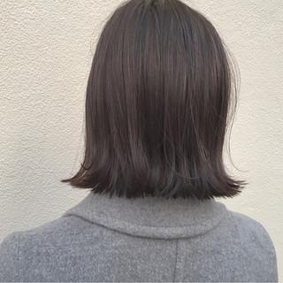 外国人風 外ハネ 切りっぱなし ボブ ヘアスタイルや髪型の写真・画像