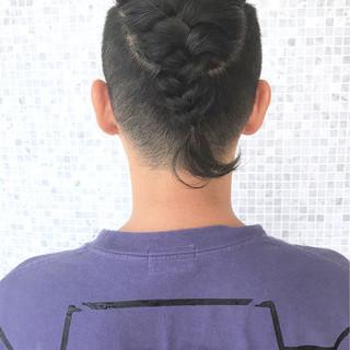 ミディアム ヘアアレンジ 簡単ヘアアレンジ メンズ ヘアスタイルや髪型の写真・画像