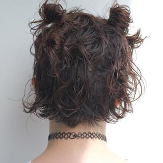 ヘアアレンジ パーマ ゆるふわ リラックス ヘアスタイルや髪型の写真・画像