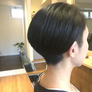黒髪 かっこいい 刈り上げ ショート ヘアスタイルや髪型の写真・画像