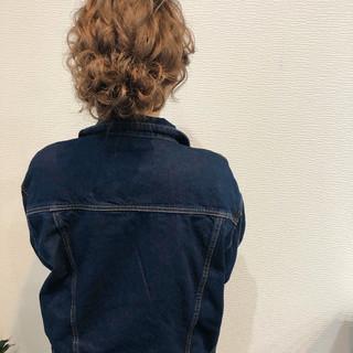 ミディアム ヘアセット アップスタイル お団子 ヘアスタイルや髪型の写真・画像