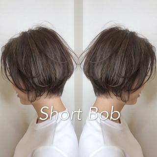 小顔ショート ガーリー ハンサムショート デート ヘアスタイルや髪型の写真・画像