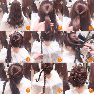 ヘアアレンジ ロング ゆるふわ フェミニン ヘアスタイルや髪型の写真・画像