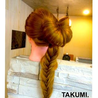 外国人風 編み込み ロング ヘアアレンジ ヘアスタイルや髪型の写真・画像