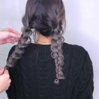 ガーリー デート アンニュイほつれヘア ヘアアレンジ ヘアスタイルや髪型の写真・画像