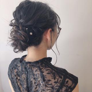 成人式 エレガント ミディアム パーティ ヘアスタイルや髪型の写真・画像 ヘアスタイルや髪型の写真・画像