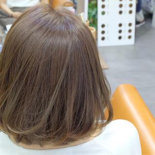 秋 ナチュラル 透明感 ボブ ヘアスタイルや髪型の写真・画像