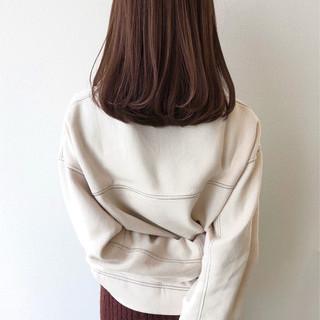 大人女子 セミロング 大人ミディアム ナチュラル ヘアスタイルや髪型の写真・画像