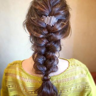 結婚式 ヘアアレンジ ロング お呼ばれ ヘアスタイルや髪型の写真・画像 ヘアスタイルや髪型の写真・画像