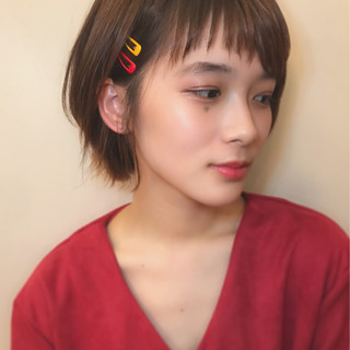 簡単ヘアアレンジ ショート デート 冬 ヘアスタイルや髪型の写真・画像