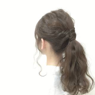 愛され ロング モテ髪 ポニーテール ヘアスタイルや髪型の写真・画像