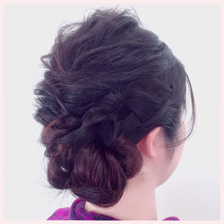 結婚式 三つ編み ヘアアレンジ 編み込み ヘアスタイルや髪型の写真・画像