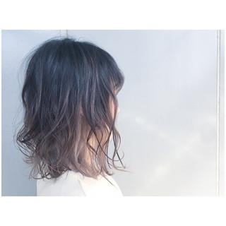 ボブ アッシュグレージュ グレージュ グレーアッシュ ヘアスタイルや髪型の写真・画像