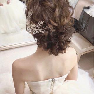 大人かわいい フェミニン ゆるふわ 結婚式 ヘアスタイルや髪型の写真・画像