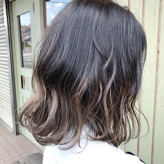 外国人風カラー ボブ ヘアアレンジ グラデーションカラー ヘアスタイルや髪型の写真・画像