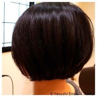 ナチュラル 黒髪 ボブ 黒髪ショート ヘアスタイルや髪型の写真・画像