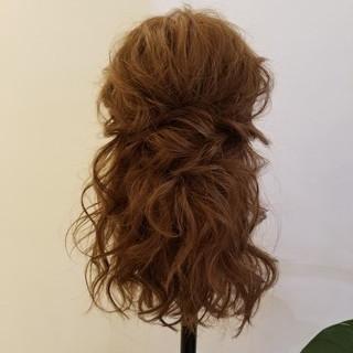 エレガント 結婚式ヘアアレンジ ロング 簡単ヘアアレンジ ヘアスタイルや髪型の写真・画像