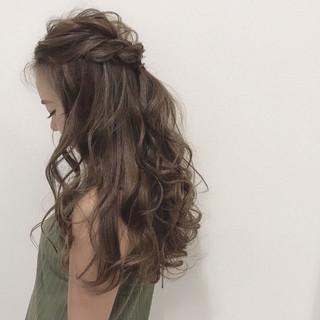 結婚式 透明感 デート フェミニン ヘアスタイルや髪型の写真・画像