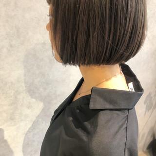 ミニボブ ショートボブ デート モテボブ ヘアスタイルや髪型の写真・画像