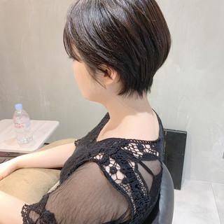 ハンサムショート 黒髪ショート ベリーショート ショートヘア ヘアスタイルや髪型の写真・画像