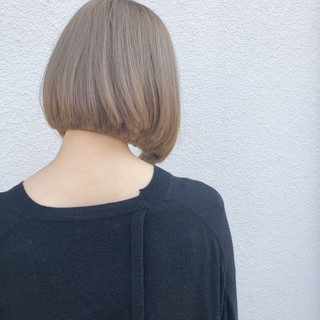 ボブ ミニボブ ナチュラル ヘアカラー ヘアスタイルや髪型の写真・画像
