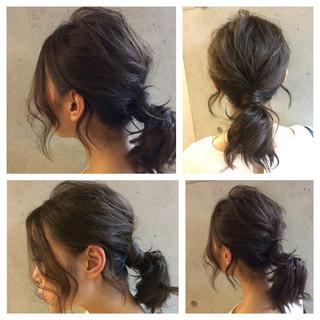 ゆるふわ ヘアアレンジ ミディアム ショート ヘアスタイルや髪型の写真・画像 ヘアスタイルや髪型の写真・画像