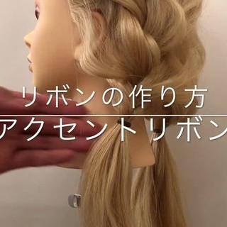 セミロング 結婚式 ガーリー ヘアアレンジ ヘアスタイルや髪型の写真・画像