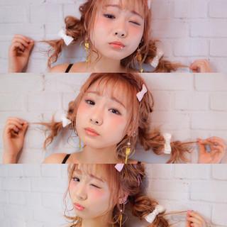 ツインテール ショート ピュア ヘアアレンジ ヘアスタイルや髪型の写真・画像