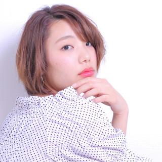 かわいい ショート ロブ 色気 ヘアスタイルや髪型の写真・画像
