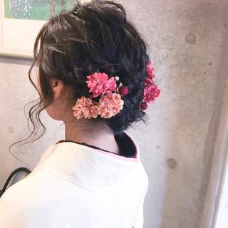ボブ 謝恩会 ロブ セミロング ヘアスタイルや髪型の写真・画像