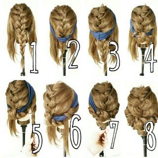 デート 簡単ヘアアレンジ セミロング ヘアアレンジ ヘアスタイルや髪型の写真・画像 ヘアスタイルや髪型の写真・画像