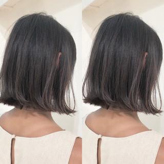 フェミニン ロブ ボブ エフォートレス ヘアスタイルや髪型の写真・画像