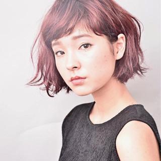 外国人風 ボブ モード ニュアンス ヘアスタイルや髪型の写真・画像