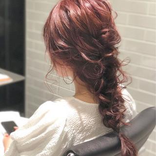 編みおろし ヘアアレンジ 簡単ヘアアレンジ 大人かわいい ヘアスタイルや髪型の写真・画像