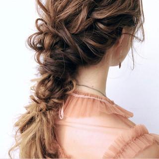 パーティ アンニュイ ロング ヘアアレンジ ヘアスタイルや髪型の写真・画像