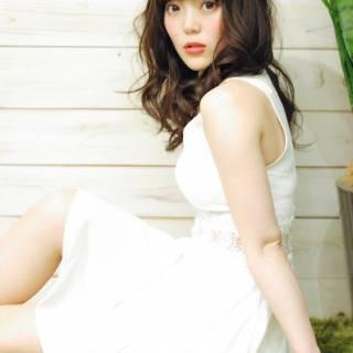 春 モテ髪 フェミニン コンサバ ヘアスタイルや髪型の写真・画像