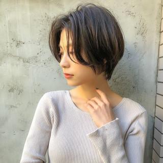 ショート ベリーショート ナチュラル ショートボブ ヘアスタイルや髪型の写真・画像