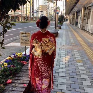 ナチュラル 結婚式ヘアアレンジ 成人式ヘア 成人式 ヘアスタイルや髪型の写真・画像