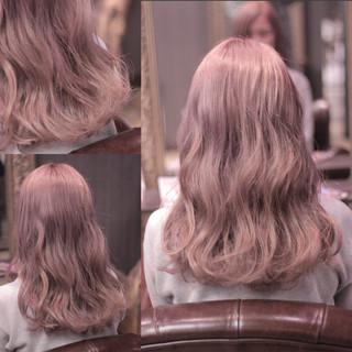 ウェーブ ウェットヘア 渋谷系 セミロング ヘアスタイルや髪型の写真・画像