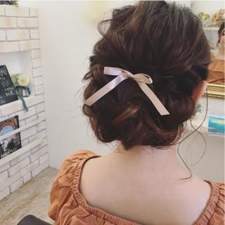 ヘアアレンジ 結婚式 ロング ゆるふわ ヘアスタイルや髪型の写真・画像