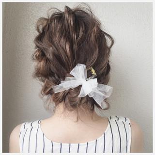 ヘアアレンジ アッシュ ショート ミディアム ヘアスタイルや髪型の写真・画像
