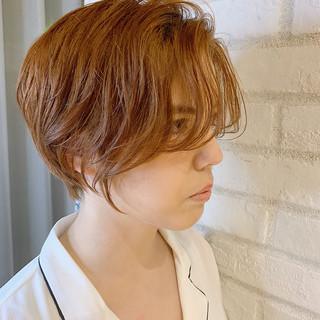 オフィス ショートボブ ナチュラル ショートヘア ヘアスタイルや髪型の写真・画像