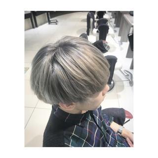 オルチャン 個性的 マッシュ ブリーチ ヘアスタイルや髪型の写真・画像