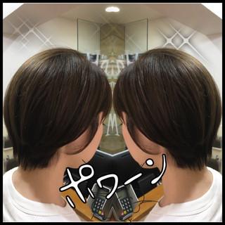 透明感 ナチュラル アッシュ ショート ヘアスタイルや髪型の写真・画像